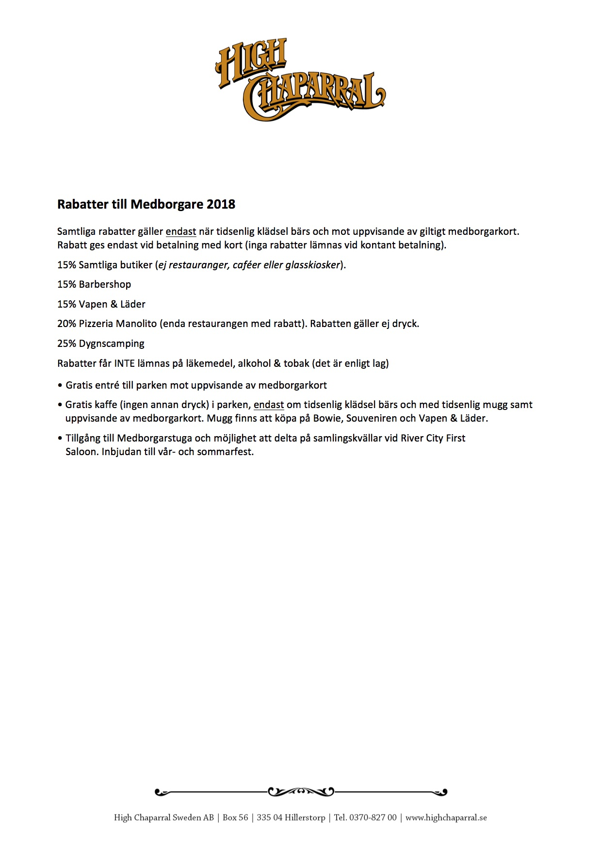 Rabatter till medborgare 2018